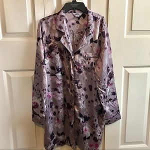 Jennifer Lopez Purple Pajama Shirt